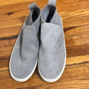 Dolce Vita grey suede high top casual sneaker